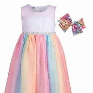 NEW Bluberi boulevard Girls dress w/ bow
